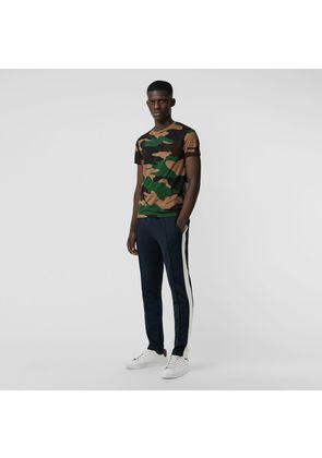 Burberry Camouflage Print Cotton T-shirt, Green