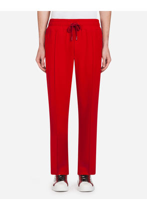 Dolce & Gabbana Trousers - CADY JOGGING PANTS WITH BANDS RED