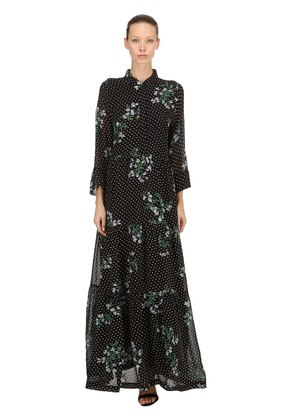 ROMETTY PRINTED VISCOSE CREPE DRESS