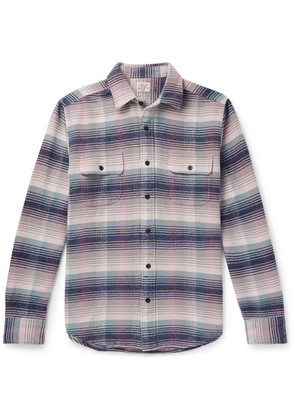 Faherty - Belmar Checked Cotton Shirt - Purple
