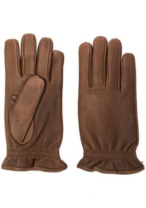 Orciani elasticated gloves - Brown