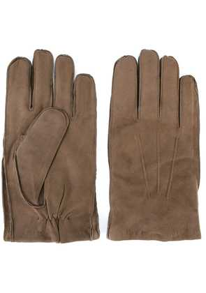 Orciani exposed seam gloves - Nude & Neutrals