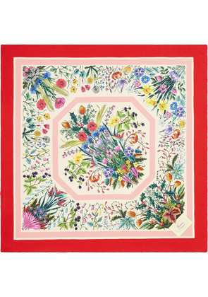 Gucci Silk scarf with floral print - White