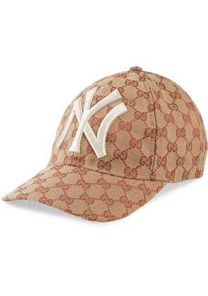 Gucci Baseball hat with NY Yankees™ patch - Brown