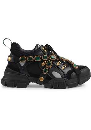 Gucci Flashtrek sneakers with removable crystals - Black