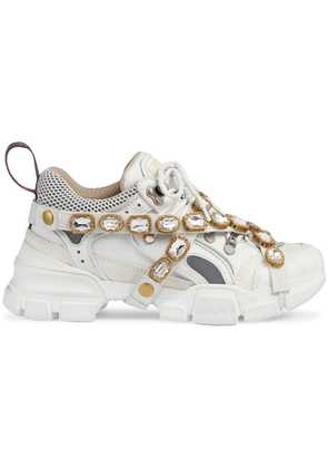 Gucci Flashtrek sneakers with removable crystals - White