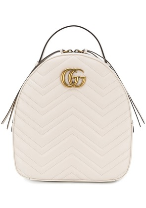 Gucci GG Marmont quilted backpack - White