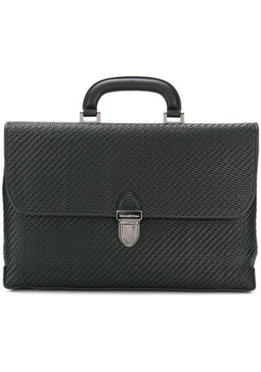 Ermenegildo Zegna Pelle Tessuta laptop bag - Black