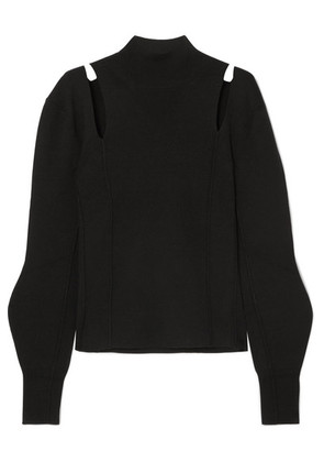 Chloé - Cutout Wool Turtleneck Sweater - Black