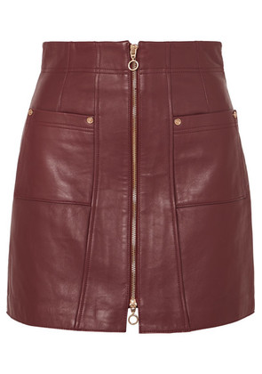 alice McCALL - Make Me Yours Leather Mini Skirt - Burgundy