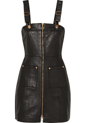 alice McCALL - Cherry On Baby Leather Mini Dress - Black