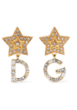 Dolce & Gabbana - Gold-tone Crystal Earrings - one size