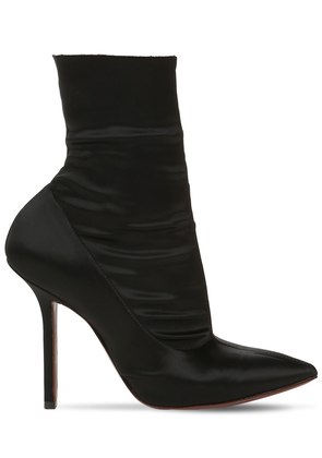 110MM STRETCH SATIN ANKLE BOOTS