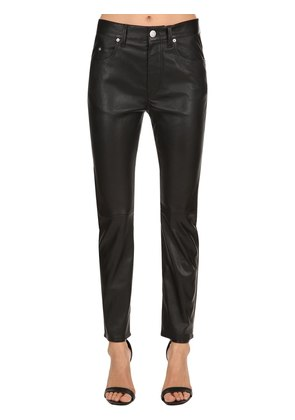 MINLOW BOYFRIEND FIT LEATHER JEANS