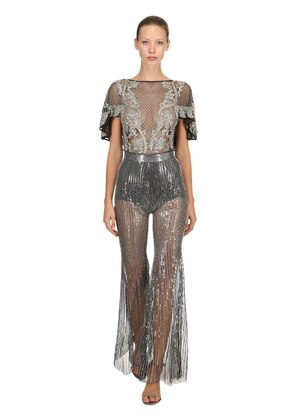 BEADED & SEQUINED JUMPSUIT