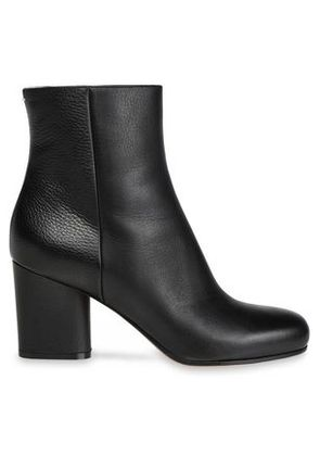 Maison Margiela Woman Leather Ankle Boots Black Size 36