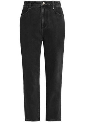 3.1 Phillip Lim Woman High-rise Tapered Jeans Black Size 00