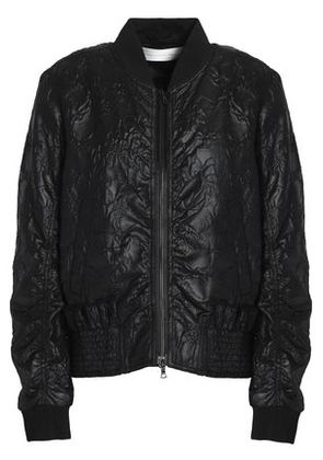 Victoria, Victoria Beckham Woman Shirred Embroidered Faille Bomber Jacket Black Size 12