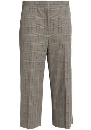 Rochas Woman Prince Of Wales Checked Cotton Wide-leg Pants Beige Size 38