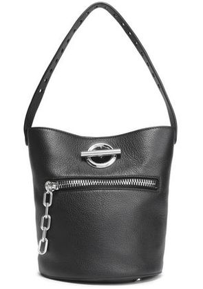 Alexander Wang Woman Textured-leather Bucket Bag Black Size -