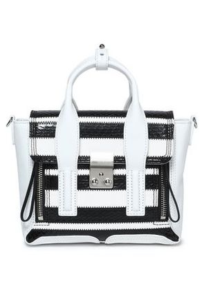 3.1 Phillip Lim Woman Striped Elaphe And Leather Shoulder Bag White Size -
