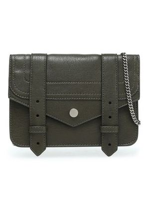 Proenza Schouler Woman Leather Shoulder Bag Army Green Size -