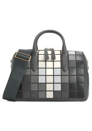 Anya Hindmarch Woman Vere Barrel Appliquéd Leather And Suede Tote Charcoal Size -