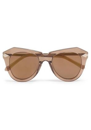 Karen Walker Woman D-frame Acetate And Gold-tone Sunglasses Brown Size -