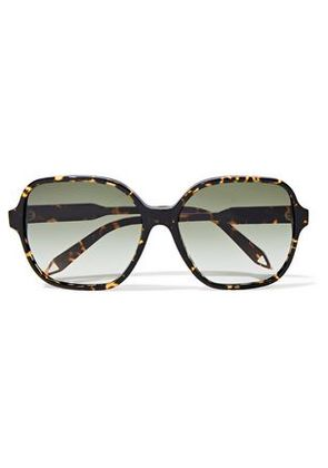 Victoria Beckham Woman Iconic Square-frame Tortoiseshell Acetate And Gold-tone Sunglasses Black Size -