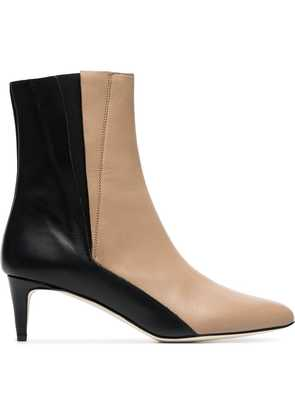 Atp Atelier beige and black nila 55 leather boots - Neutrals