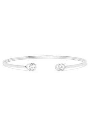 Gucci - 18-karat White Gold Diamond Cuff - S