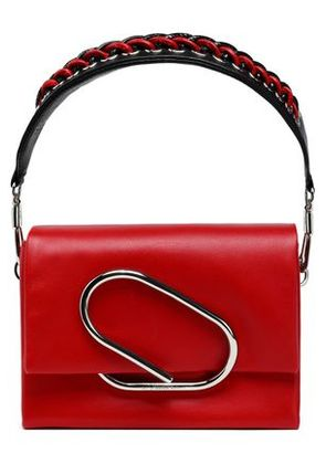 3.1 Phillip Lim Woman Chain-trimmed Leather Shoulder Bag Red Size -