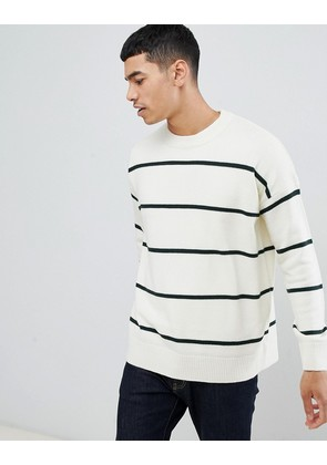 New Look jumper with bold stripes in ecru - Off white