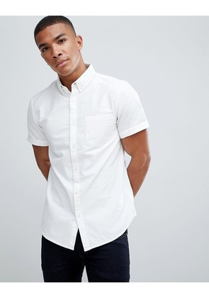 New Look regular fit oxford shirt in white - White