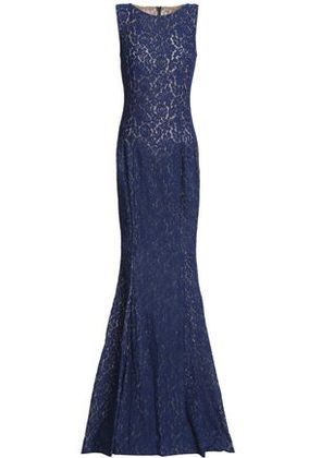 Michael Kors Collection Woman Fluted Corded Lace Gown Navy Size 8