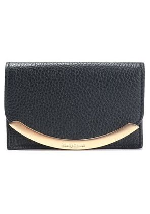 See By Chloé Woman Lizzie Embellished Textured-leather Cardholder Black Size -