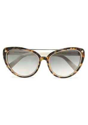 Tom Ford Woman Cat-eye Tortoisehsell Acetate And Gold-tone Sunglasses Light Brown Size -
