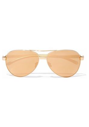 Linda Farrow Woman Aviator-style Gold-tone Mirrored Sunglasses Gold Size -