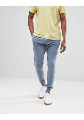 Brave Soul Washed Out Joggers - Blue
