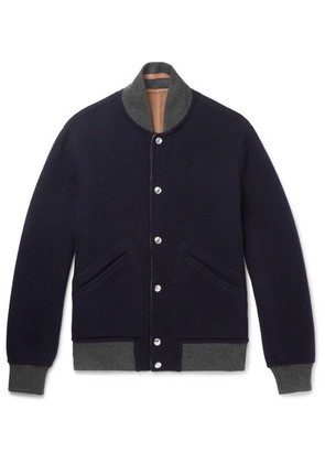 Reversible Wool And Cashmere-blend Bomber Jacket