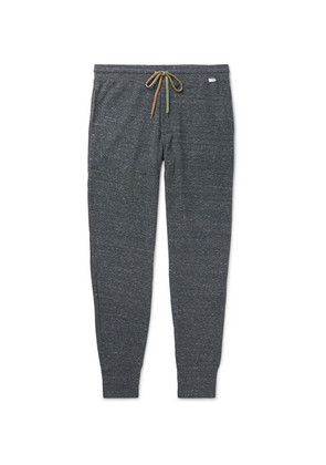 Tapered Mélange Cotton-blend Jersey Sweatpants