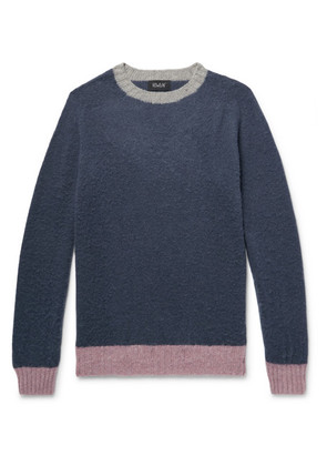 Captain Harry Contrast-trimmed Brushed Wool Sweater