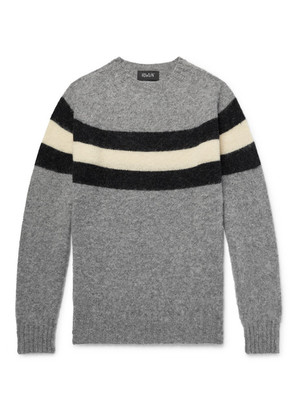 Striped Brushed Wool Sweater