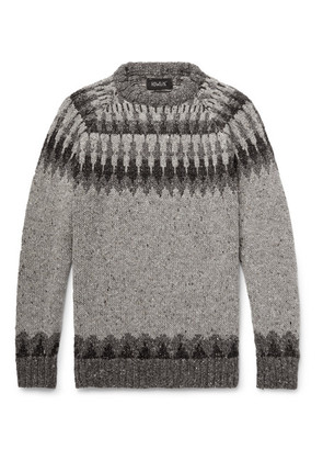 Before The Snowfall Fair Isle Donegal Wool And Mohair-blend Sweater
