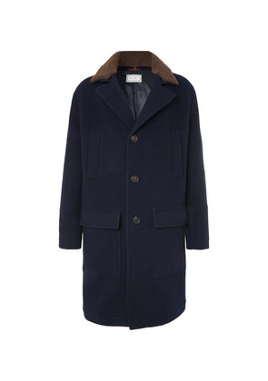 Shearling-trimmed Virgin Wool And Cashmere-blend Coat