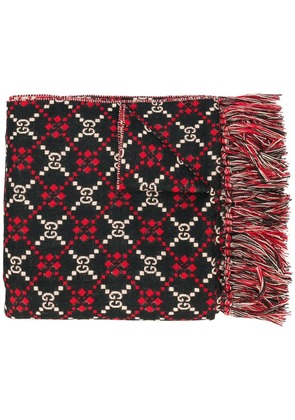 Gucci GG diamond oversized scarf - Black