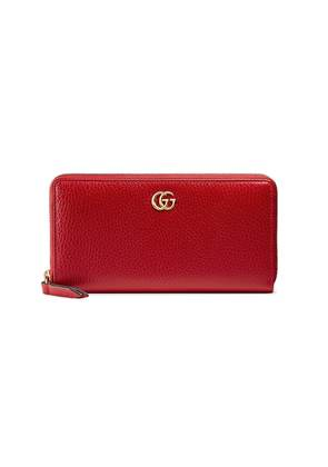 Gucci Leather zip around wallet - Red
