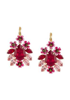 Dolce & Gabbana crystal embellished pendant earrings - Pink