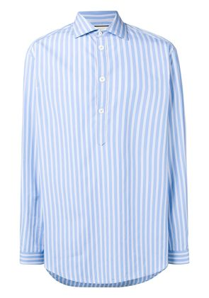 Gucci oversized stripe print shirt - Blue