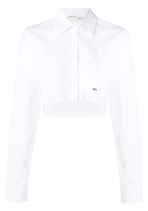 Off-White cropped button-up shirt